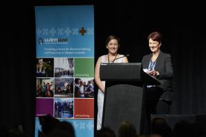 Nan Belton and Rachel Page WIMWA Summit presentation 'FIFO and Fido: a tale about volunteering'